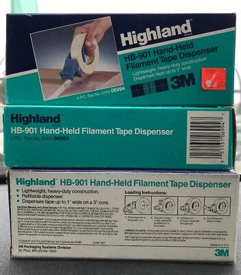 3m Handheld Tape Dispenser1 In. Hb901 Black