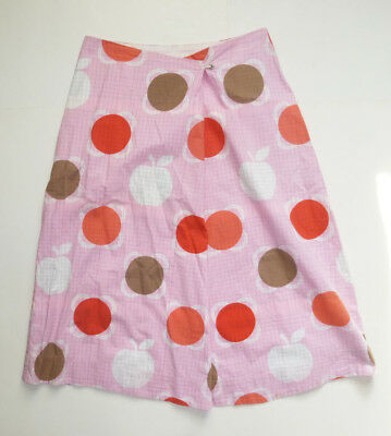 EUC Apple & Floral Grid Pattern Pink A-Line Skirt by Orla Kiely - SZ 3/US 8