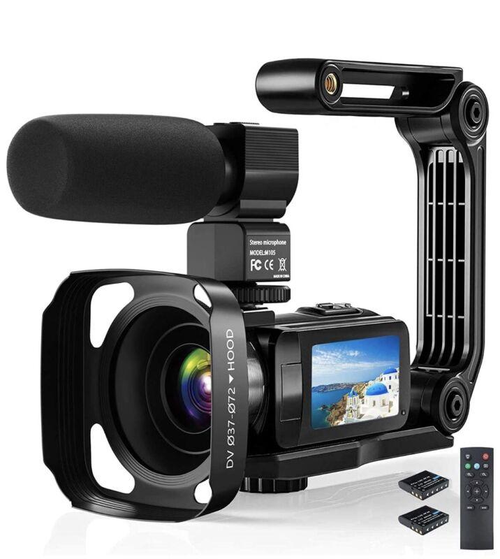 Video Camera Camcorder, 2.7K Ultra HD YouTube Vlogging Camera, 36MP IR Night Vis