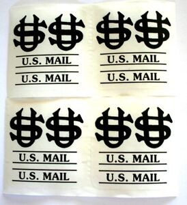 US Mail Post Office Box Door Decals-Black