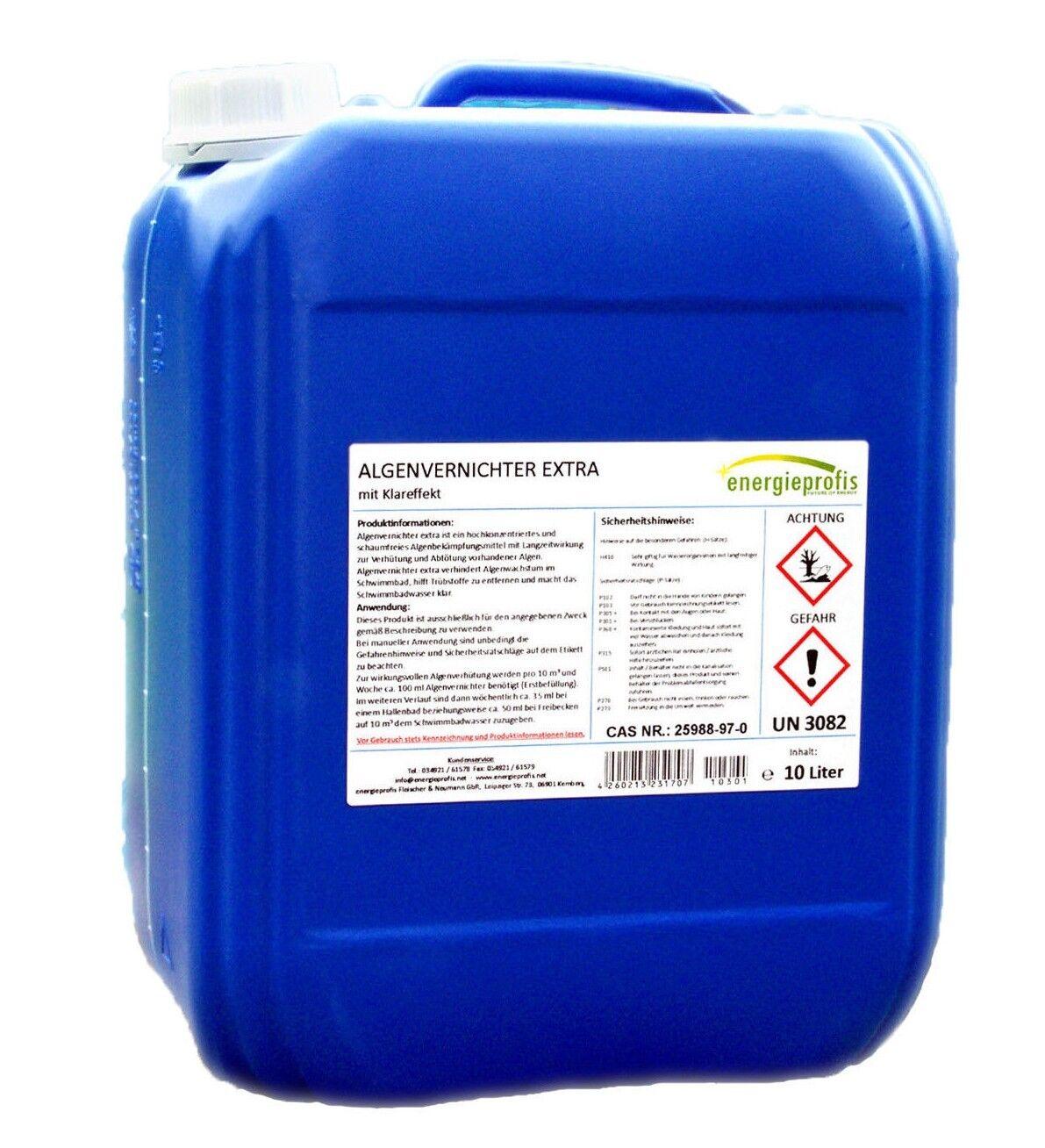 10 Liter Algenvernichter Algenex Algizid Pool Schwimmbad Wasserpflege