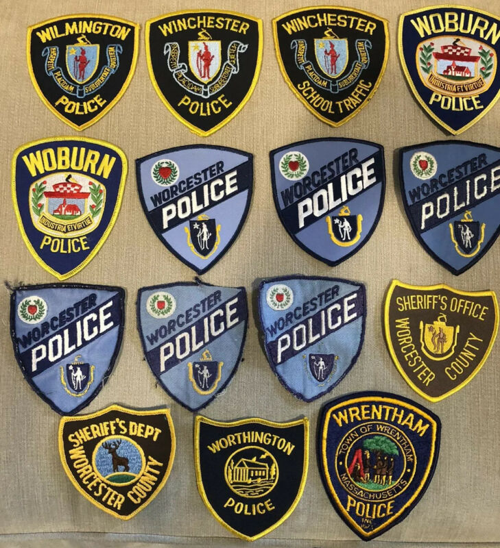 Massachusetts Police Patch Lot of 15 W's
