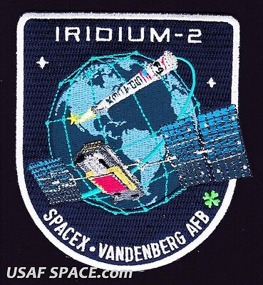 Iridium 2   Spacex Original Falcon 9 F 9 Vafb Launch Satellite Mission Patch