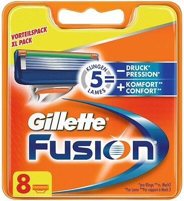 8 Gillette Fusion Rasierklingen / Klingen NEU & OVP