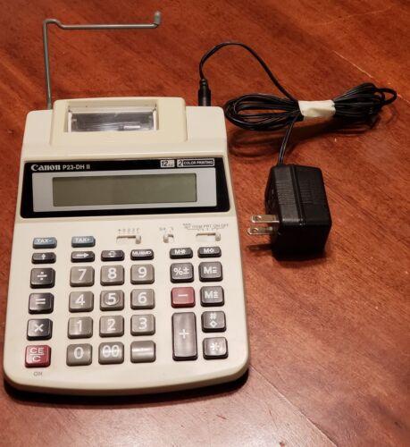 Canon P23-DH II 12-Digit 2-Color Print Accounting Accountant Desktop Calculator