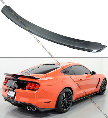For 2015-19 Ford Mustang GT350 Track Pack Style Carbon Fiber Trunk Spoiler Wing](Lids Tracking)