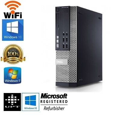 Dell OptiPlex 790/990 Intel i5 Quad SFF or DT Windows 7/10 250GB 4GB/8GB WiFi PC