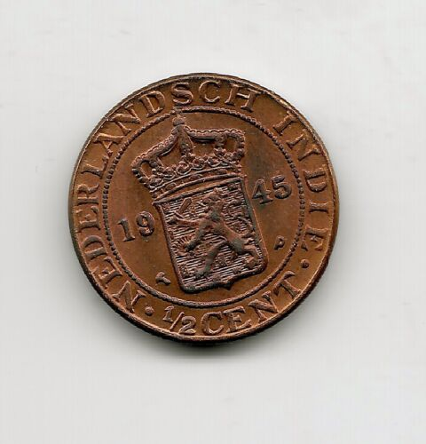World Coins - Netherlands Indies 1/2 Cent 1945 Coin KM# 314