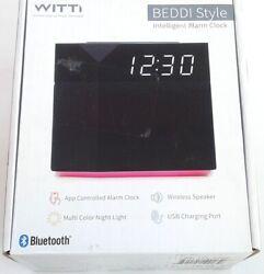 Witti ~ Beddi Style Smart Alarm Clock | App Enabled w/Bluetooth Speaker/USB Nice