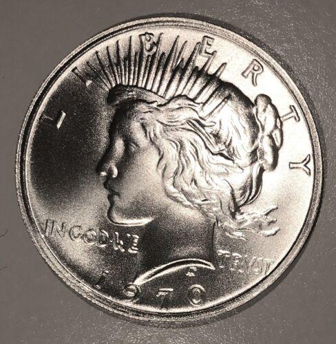 1970 Peace Ike Rev Dollar Overstrike 40% Silver High Grade Dan Carr 83 Mint /4