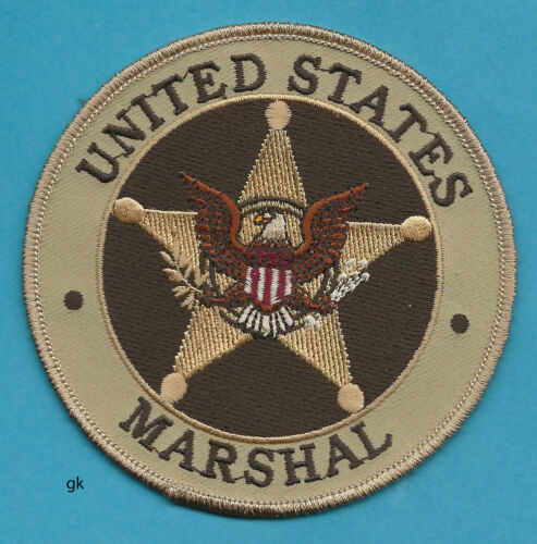 """UNITED STATES MARSHAL  SHOULDER  PATCH (Subdued - brown / tan) 4"""""""
