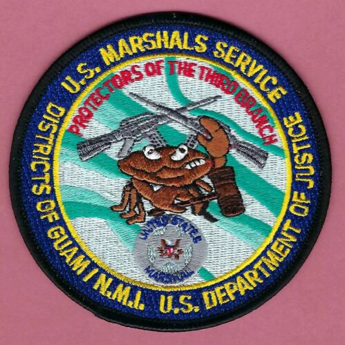 UNITED STATES MARSHAL SERVICE DISTRICT OF GUAM - NMI SHOULDER PATCH