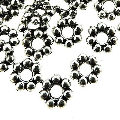 Tibetan Silver Spacer Beads Daisy Flower 6mm - 300pcs (fnsp0685e)