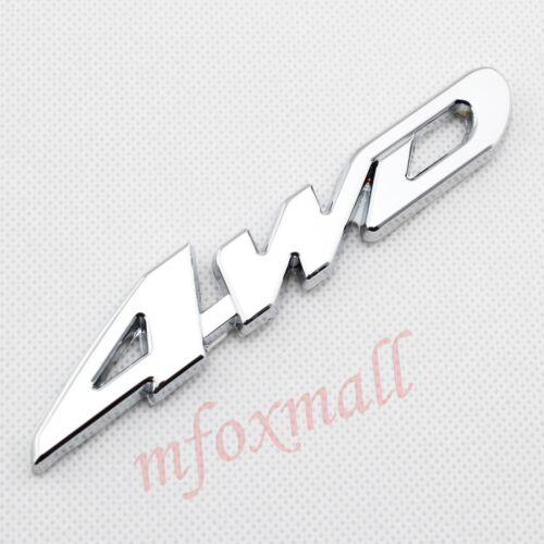 Chrome Car Parts Decor 3D Metal Decal Sticker 4WD 4 WD Logo Emblem Badge Trim