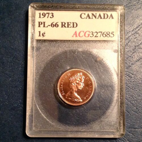 ~ 1973  Canada One Cent Elizabeth II Mint Red Proof Like Uncirculated Unc -