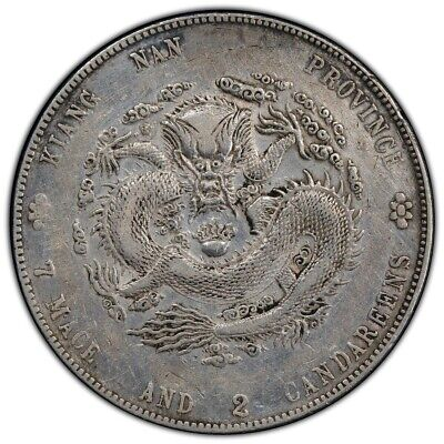 CHINA Kiangnan 1904 $1 Dollar Silver Dragon Coin PCGS VF L&M-257 Fewer Spines