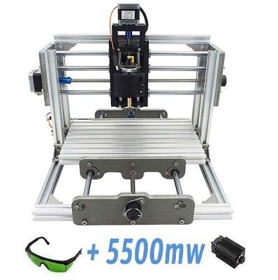 3 Axis Mini Milling Engraving Machine Diy Cnc Router Kit 5500mw Laser Engraver