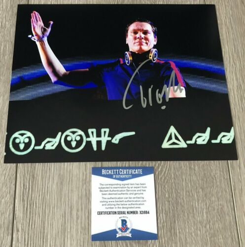 DJ TIESTO SIGNED AUTOGRAPH CONCERT 8x10 PHOTO C w/EXACT PROOF & BECKETT BAS COA
