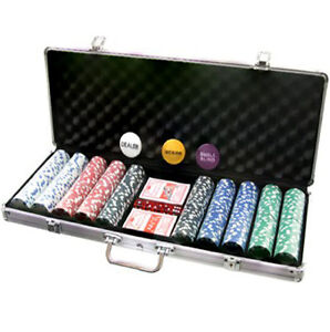 Professional Poker Set 500pcs 11.5g Chips with Carry Case and FREE Accessories