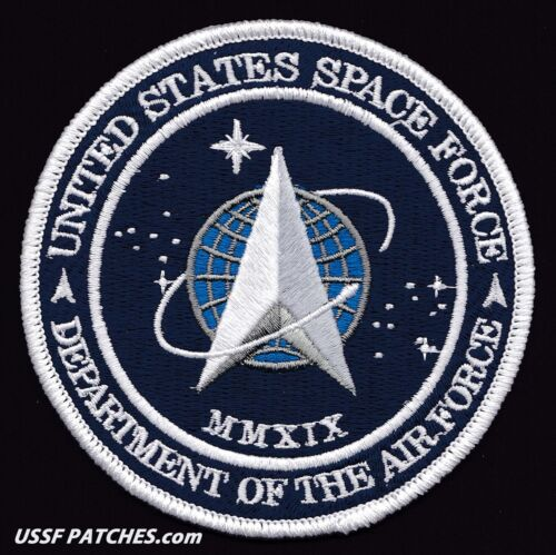 "UNITED STATES SPACE FORCE 2019 - DEPT OF THE USAF - ORIGINAL AB Emblem 4"" PATCH"