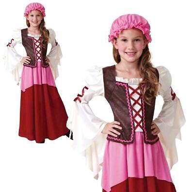 Kinder Mädchen Kleine Taverne Kostüm Kostüm Mittelalter Outfit Buch - Buch Kostüm Mädchen