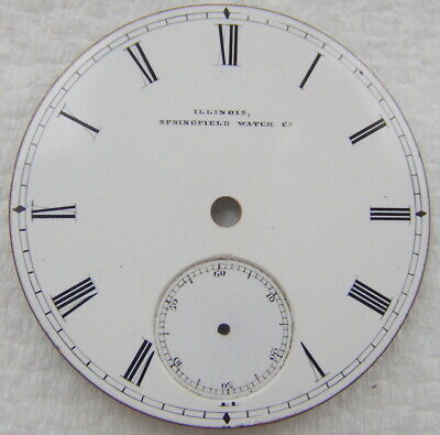 18S Illinois Springfield Watch Co Roman Numeral Pocket Watch Dial Only