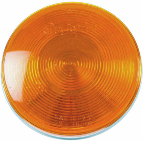 """2 New Truck-Lite 40202Y 4.25"""" Amber  Stop/Turn/Tail Lamp Free US Shipping"""