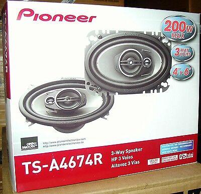 """Pioneer 4x6"""" 3 Way Car Speakers Ts-a4674r Tsa4674r"""