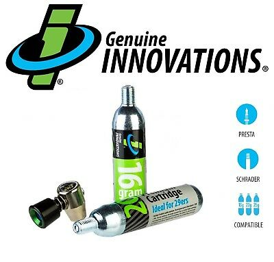 Genuine Innovations G2673 AirChuck Elite 16&20g Co2 Air Chuck Bike Tire Inflator