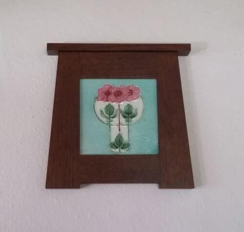T & R Boote Antique English Art Nouveau Tile w/ Arts & Crafts Frame