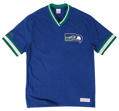 Seattle Seahawks Mitchell   Ness Nfl  Win  Vintage Premium T Shirt