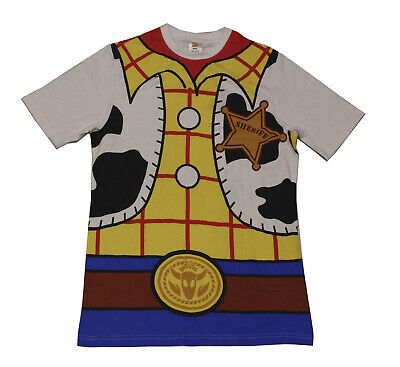 Licensed Mens TOY STORY WOODY  T-shirt Top Size Small Costume Design