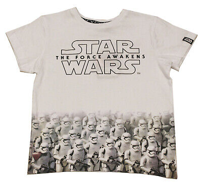 Licensed Boys Disney Star Wars Stormtrooper White T-shirt Top Age 2-8 Years