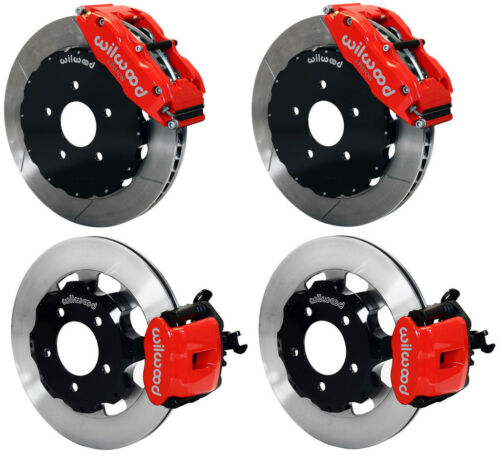 "Wilwood Disc Brake Kit,06-12 Honda Civic Si 2.0l,13""/12"" Rotors,red Calipers"