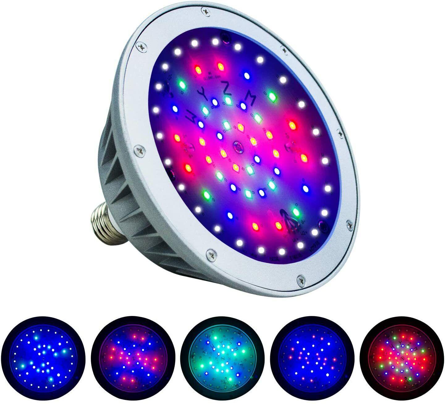 led pool light 120v 40w color changing
