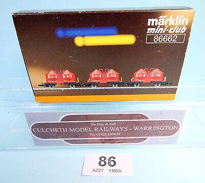 MARKLIN 'Z' GAUGE 86662 PAIR OF SILO WAGONS - BOXED #86
