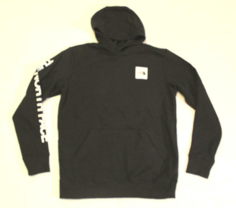 The North Face Boys Solid Logowear Pullover Hoodie BF5 Black Large (14/16) NWT