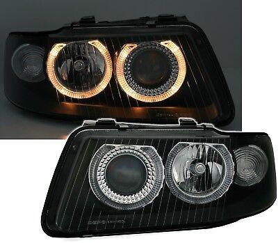 Angel Eyes Scheinwerfer Set in Schwarz für Audi A3 8L 00-03 Facelift