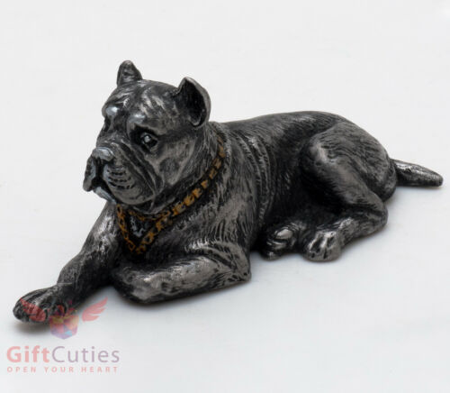Tin Pewter Figurine of Italian Mastiff Cane Corso Dog IronWork