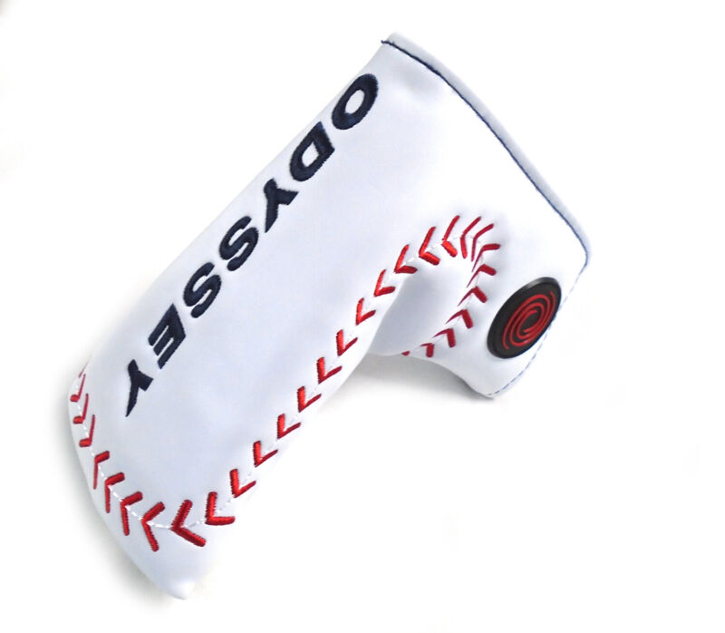NEW Odyssey Limited Edition Baseball White/Red/Black Blade/Boot Putter Headcover