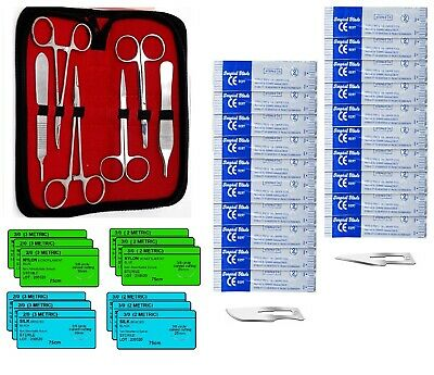 39 Piece Practice Suture Kit For Medical And Veterinary Student Training