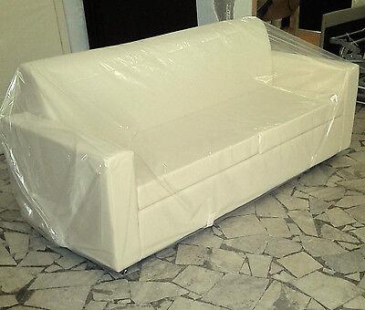 Divano tre 3 posti Divanetto tessuto ecopelle sofà poltrona relax sedia 37colori