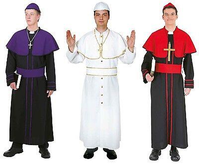 Papst Bischof Kardinal Gewand Mönch Kostüm Pater Robe Pfarrer Priester - Priester Roben Kostüm