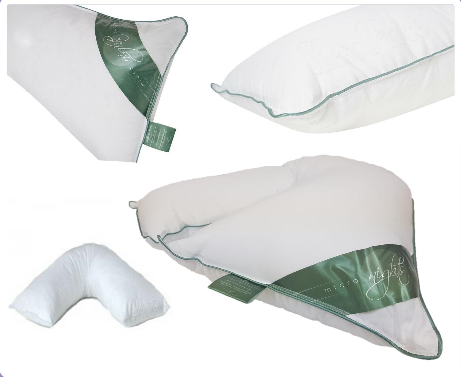 Microfiber V Shaped Orthopedic Head Neck Back Pregnancy Support V Shape Pillows