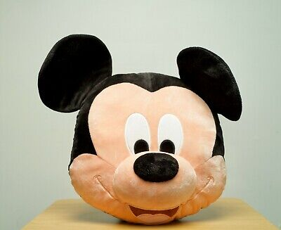 VNTG Disney Parks Store Mickey Mouse Face Plush Stuffed Animal Pillow Figure