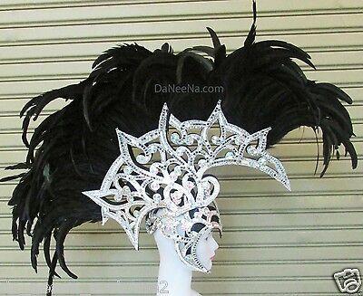 Da NeeNa H190 Crystal  Men Male Warrior Alien Mohawk Indian Headdress