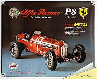 Alfa Romeo P3 Scuderia Ferrari - 1:20 Revival Bausatz Metall kit diecast - NEU
