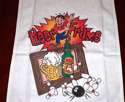 Beer Frame Bowler Bowling Towel Gift Xmas Free Shipping
