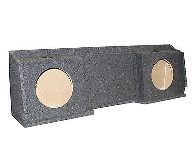 """NEW GMC Chevy Silverado Ext Cab '99-06 Dual Underseat Two 10"""" Subwoofer Sub Box"""