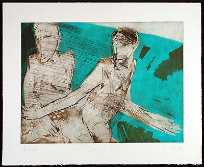 DDR-Kunst. Grossformatige Aquatinta Stefan Thomas WAGNER (*1951 D) handsigniert
